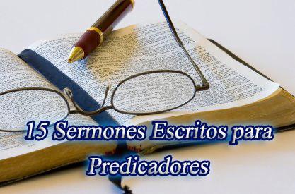 ✅ 15 Sermones Adventistas Escritos para Predicadores