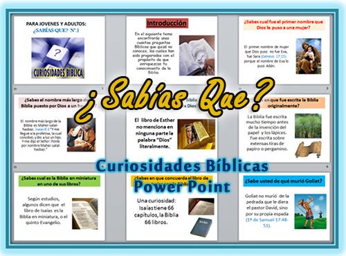 Curiosidades Bíblicas en Power Point