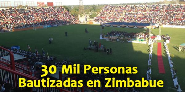 30 Mil Personas Bautizadas en Zimbabue