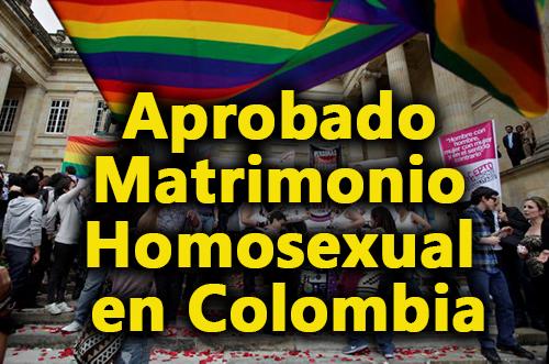 Aprobado Matrimonio Homosexual en Colombia