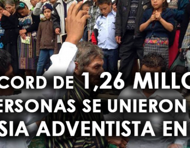 Un récord de 1,26 millones de personas se unieron a la Iglesia Adventista en 2015