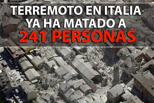 El Terremoto en Italia ya ha Matado a 241 Personas