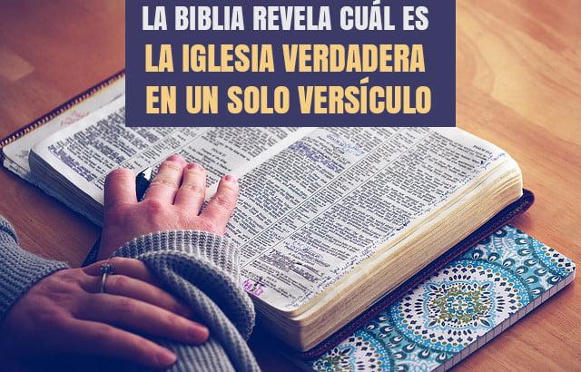La Biblia Revela Cuál Es La Iglesia Verdadera En Un Solo Versículo