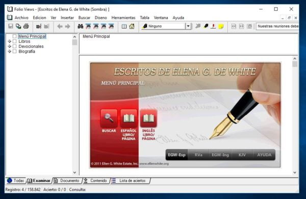 CD-Rom de Elena G de White Writings para PC y MAC