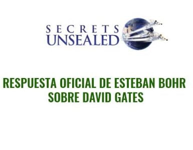 Respuesta oficial de Esteban Bohr sobre David Gates