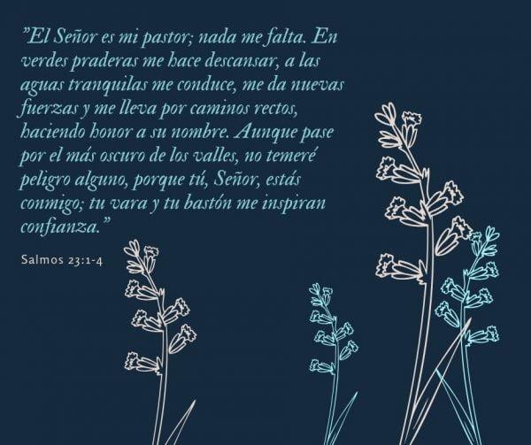 El Señor es mi pastor; nada me falta.