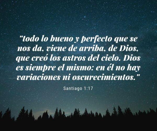 todo lo bueno y perfecto que se nos da, viene de arriba, de Dios