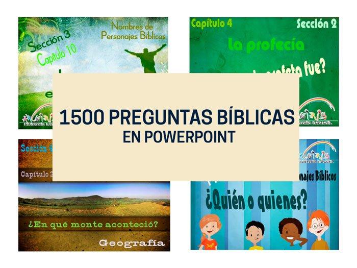 1500 Preguntas Biblicas En Powerpoint