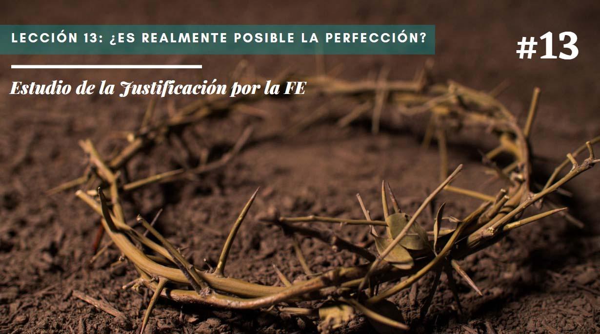 Lección 13: ¿Es realmente posible la perfección?